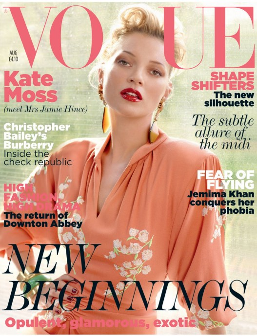 Kate Moss covers Vogue UK August 2011 by Mario Testino